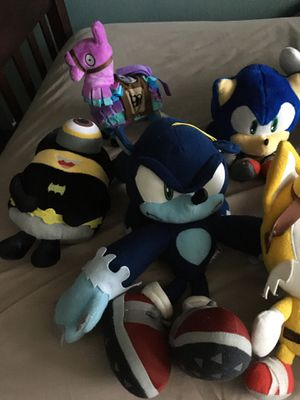 Sonic & Fortnite Plushies for Sale in San Jose, CA