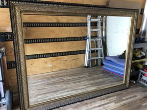 72.5x54.5 black and gold beveled mirror for Sale in Phoenix, AZ