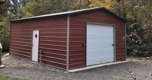 New 18' x 26' x 9' Red Steel Garage for Sale in Douglas, MA