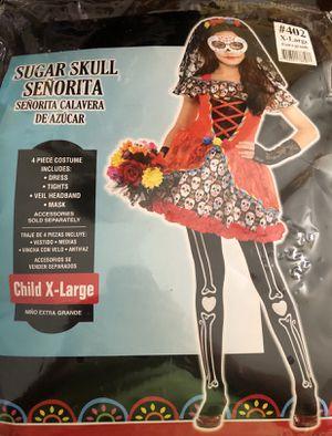Girls' Sugar Skull Halloween Costume for Sale in Glendale, AZ