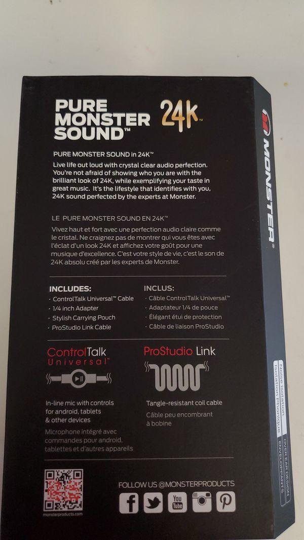 Monster 24K Professional DJ Style Headphones
