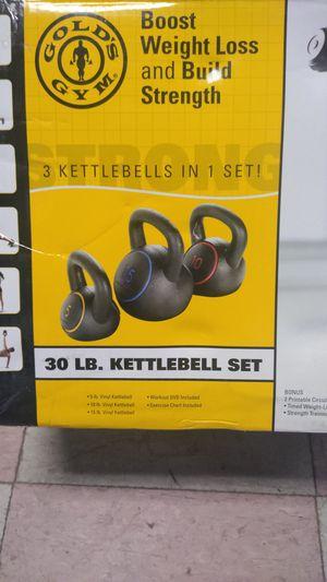 Gold's Gym 30-lb kettlebell set for Sale in Philadelphia, PA