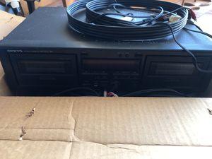 Onkyo steel cassette tape deck with two speakers for Sale in OCEAN BRZ PK, FL
