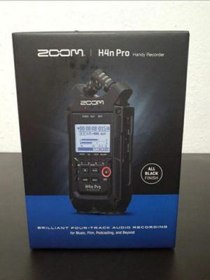 Zoom H4n Pro Black for Sale in Inglewood, CA