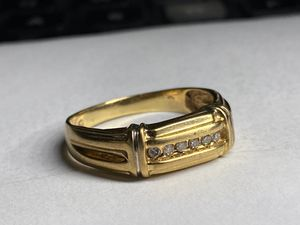 Solid yellow gold diamond ring size 10 for Sale in Miami, FL