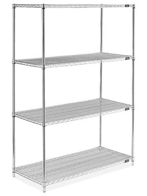 """ULine Chrome Wire Shelving Unit - 48 x 24 x 72"""" for Sale in Guadalupe, AZ"""