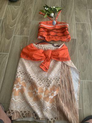 Halloween costume Size 8 to 10 girls moana for Sale in Phoenix, AZ