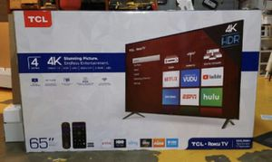 "65"" TcL roku smart 4K led uhd hdr tv for Sale in Los Angeles, CA"