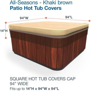 "94x94"" Square Hot Tub Jacuzzi Spa Cover Khaki Brown All Seasons for Sale in Murrieta, CA"