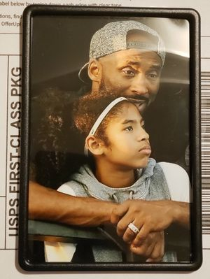 Kobe Bryant and Gigi Bryant 4in x6in Magnetic framed Picture of Kobe Bryant for Sale in Los Angeles, CA