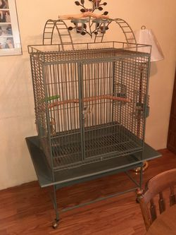 Parrot Cage,with Perch Stand 50.00 for Sale in New Kensington,  PA
