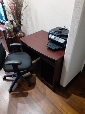 Mahogany wood desk and chair for Sale in Tyler, TX