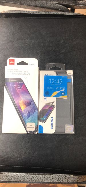 Samsung Galaxy Note 4 Screen Protector 1 Phone Cover for Sale in Upper Marlboro, MD