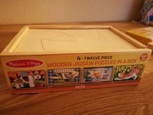 Preschooler 3 kind puzzles and counting games board for Sale in Diamond Bar, CA