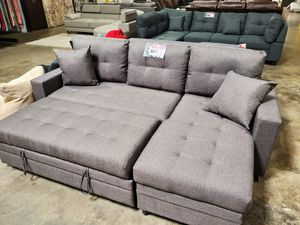 Small Sectional Sofa with Pull Out Bed , Grey for Sale in Downey, CA