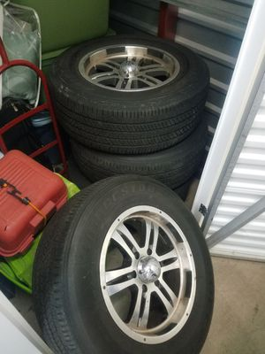 4 runner rims and tires 3rd and 4th gen for Sale in Denver, CO