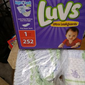 252 Onesie Baby Pampers Two Packages That Have Been Opened Accidentally But Are Complete Three Packages In All for Sale in Georgetown, TX