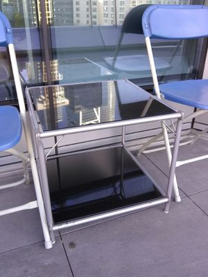 Side Table glass 2 shelves for Sale in San Francisco, CA
