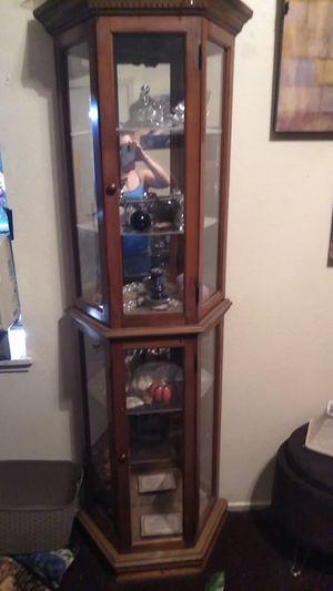 Glass curiol cabinet for Sale in Modesto, CA
