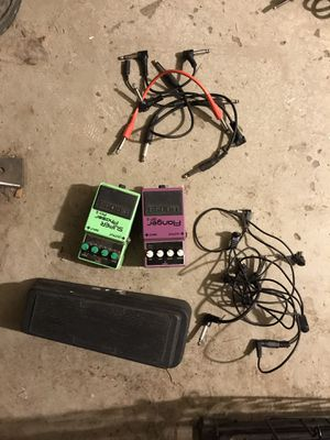 Guitar pedals and cables for Sale in Portland, OR