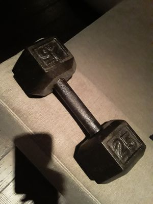 25 lbs dumbbell hex for Sale in Orlando, FL