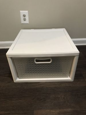 Sterlite Large Stackable Storage Drawer // Plastic Storage Drawer for Sale in Decatur, GA