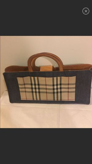 Authentic Burberry denim bag for Sale in Brooklyn, NY