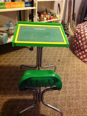 Vintage playskool desk with attached chair for Sale in Shakopee, MN