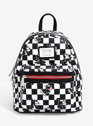 LOUNGEFLY FELIX THE CAT CHECKERED MINI BACKPACK for Sale in Montebello, CA