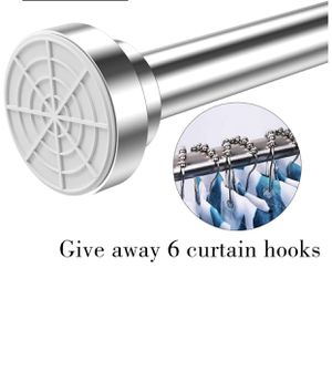 ALLRIER Tension Shower Curtain Rod - Never Rust Non-Slip Adjustable Closet Rod, Chrome, Tension Rod for Bathroom Kitchen Wardrobe Doorway Windows, No for Sale in Knightdale, NC