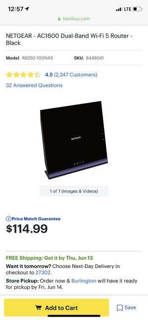 Netgear R6250 smart router (power cord included) for Sale in Floydale, SC
