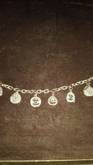 Silver plated Jack O'Lantern charm bracelets for Sale in Dallas, TX
