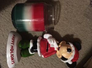 Minnie Mouse statue and candle - Disney - Mickey Mouse girlfriend happy holiday Christmas collectible for Sale in Los Angeles, CA