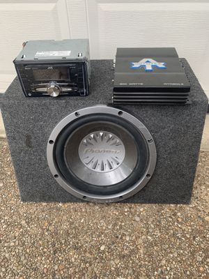 Pioneer sub and jvc stereo for Sale in Arlington, TX