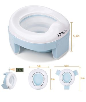 Feltom Potty Training Seat for Toddlers Portable Travel Potty Seat for Kids, 3-in-1 Folding Camping Toilet Seat for Sale in Whittier, CA