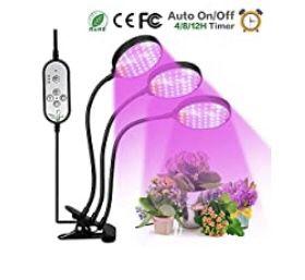 Brand New Grow Light, 360 Degree Gooseneck Clip Triple Head 45w Plant Lights for Indoor Plants for Sale in Richmond, VA