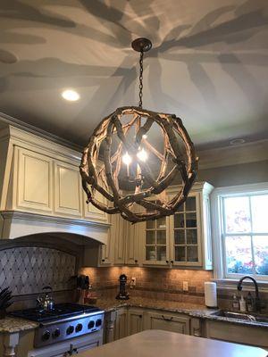 Drift wood light fixture - chandelier for Sale in Franklin, TN