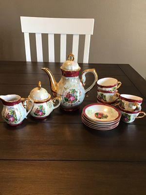 Vintage porcelain five piece tea set Over 50 years Czechoslovakian Designed for Sale in Amarillo, TX