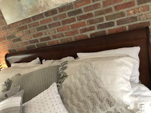 KING bed frame, 2 nightstands, bench! for Sale in Reno, NV