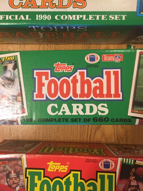 5 Factory Sealed Card Sets