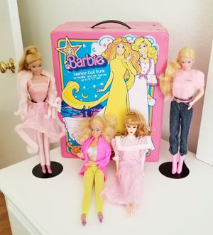 Vintage 80s Barbie Case/Trunk & Doll Lot x 5 for Sale in Fontana, CA