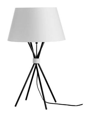 White table lamp / black metal shade for Sale in Los Angeles, CA
