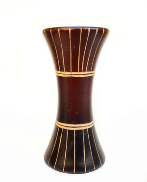 Small Vintage Wood Vase with Tribal Design for Sale in Tujunga, CA
