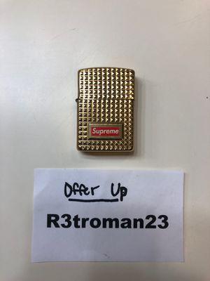 Brand New Supreme Gold Diamond Cut Zippo Lighter for Sale in Etiwanda, CA