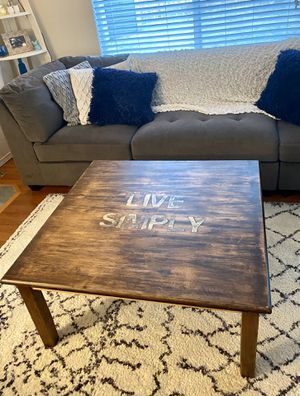 """""""Live Simply"""" Coffee Table for Sale in Snohomish, WA"""