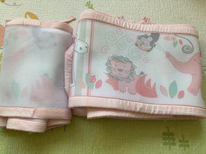 Breathable baby crib mesh liner - safari fun pink for Sale in Philadelphia, PA