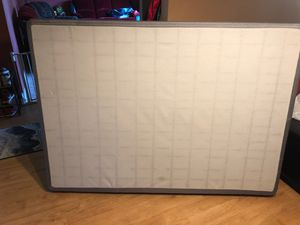 Full size box spring with metal frame for Sale in Beaverton, OR