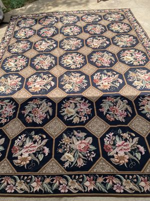 Antique/Vintage Needlepoint Rug 139x103 for Sale in Claude, TX