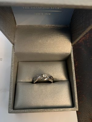 Zales Diamond Engagement Ring w/ wedding band, new box, and paperwork for Sale in Fort Bragg, NC