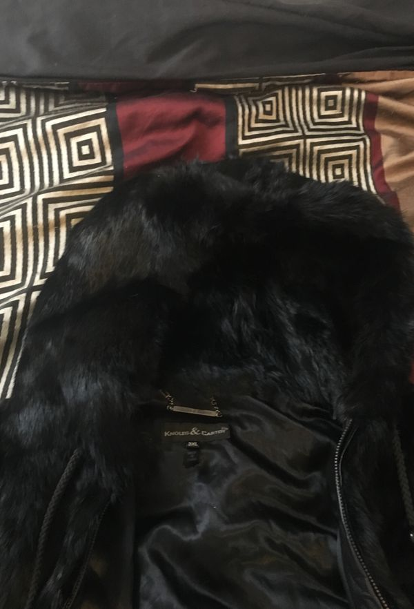 REAL MEN HOODIE FUR JACKET $125 FIRM PAID $400 in GREAT CONDITION.